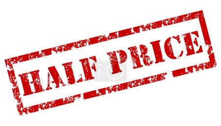 """Half Price"" Rubber Stamp"