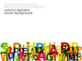 Abstract Alphabet Background