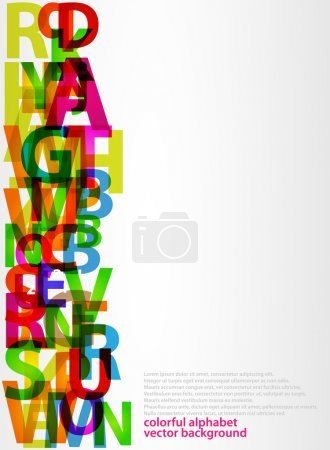 Colorful letters with Abstract background