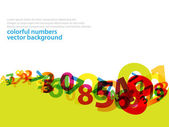Abstract numbers business background