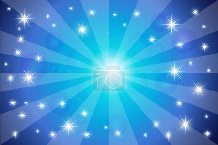 Illustration pour Twinkling étoiles fond vectoriel - image libre de droit