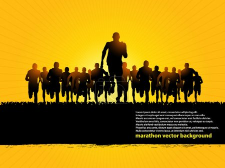 Photo for Marathon runners vector background - Royalty Free Image