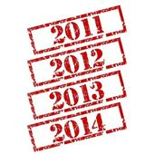 New Year Set rubber stamp