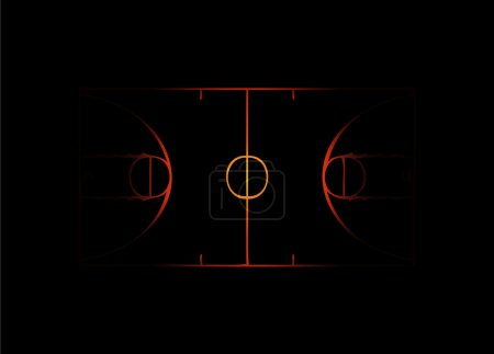 Flaming Basketball court
