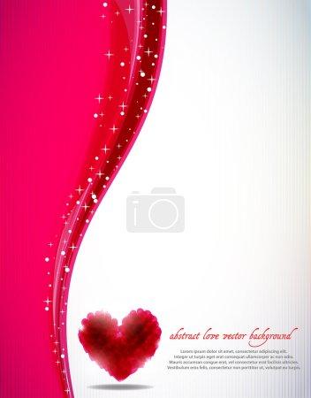 Illustration pour Le fond vectoriel abstrait de Saint-Valentin - image libre de droit
