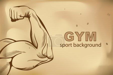 Illustration pour Muscles des bras (esquisse mans main sur blanc ) - image libre de droit