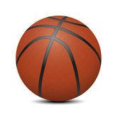 Basketball ball over white background (vector illustration)