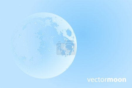 Illustration pour Belle lune vectorielle sur fond bleu - image libre de droit