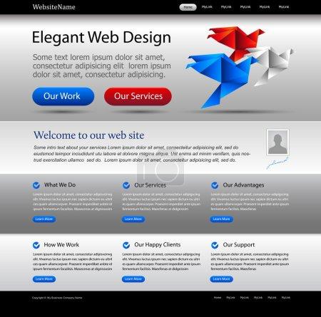 Business website editable template