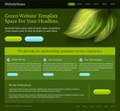 Green editable website template