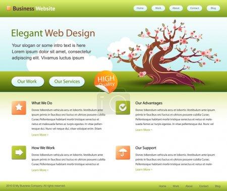 Green web site template - editable