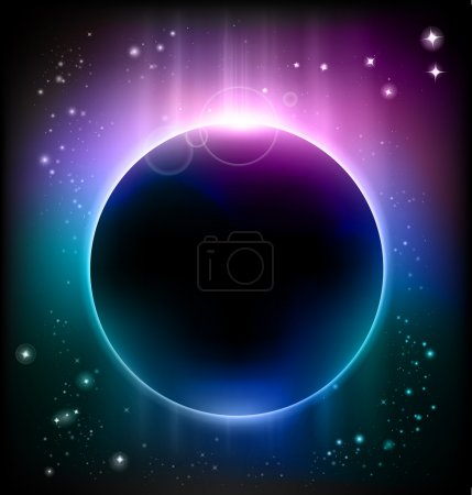 Illustration for Vector eclipse background - Royalty Free Image
