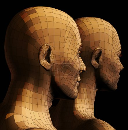 Futuristic couple illustration