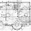 Frontal view of construction drawing...