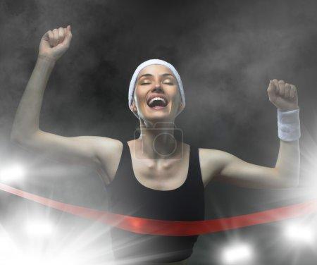 Photo for Athlete celebrates victory - Royalty Free Image