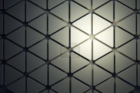 Foto de Fondo abstracto geométrico, render 3d - Imagen libre de derechos