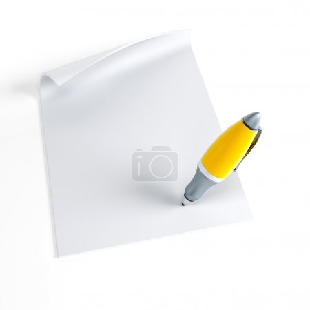 Photo pour Signature du contrat, isolé 3d render - image libre de droit