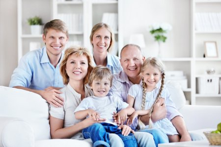 Photo for Happy big family home - Royalty Free Image