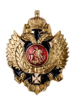 Photo pour Bouchent avec objet sur blanc - insignes militaires - image libre de droit