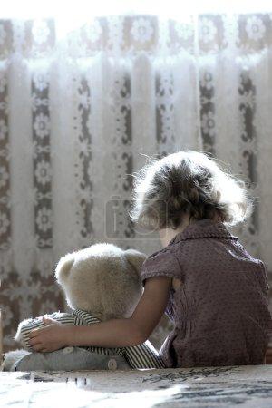 Depressed little girl