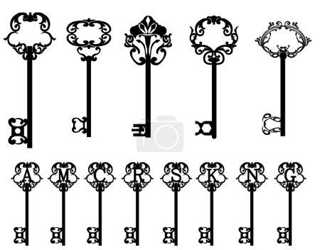 Illustration pour Collection de clés - image libre de droit