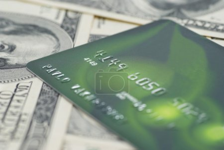 Credit card with money