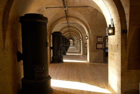 Light old corridor