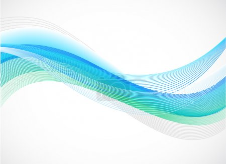 Illustration for Abstract background of blue wave on white , vector illustration - Royalty Free Image