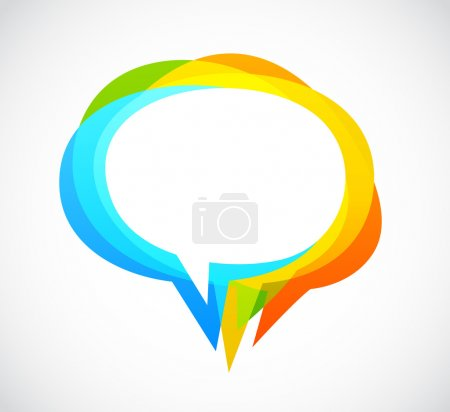 Speech bubble - colorful abstract background