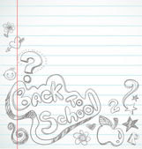 Back to school - notebook with doodles vector illustraton