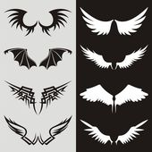 Wing shaped design elements to give your design a flying flavor