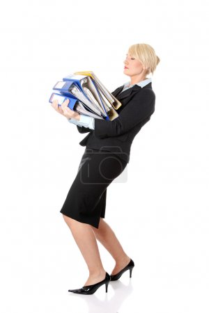 Mature business woman's working hard.