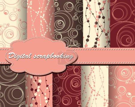 Illustration for Set of vector paper for scrapbook - Royalty Free Image