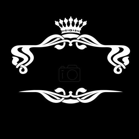 One Color Royal Ornate Quad Banner...