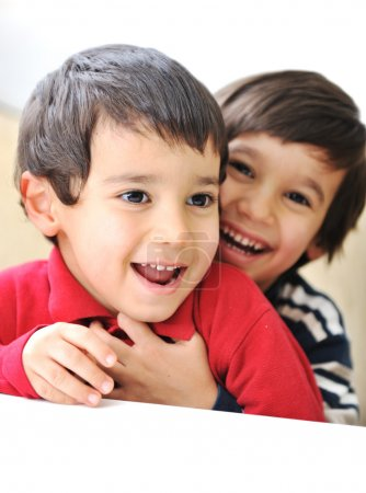 Two happy brothers, happiness, playing, togetherness, laugh, fun, childhood