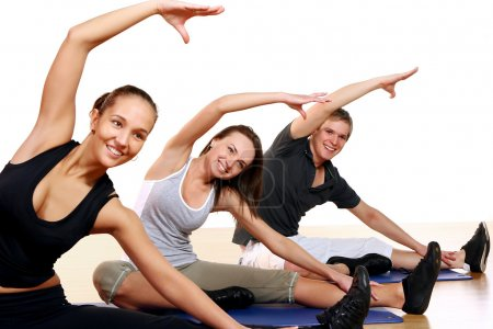 Group of Doing Fitness Exercises