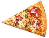 """Постер, картина, фотообои """"Кусок свежей пиццы с пепперони"""""""