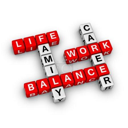 Photo pour Équilibre travail et vie - image libre de droit
