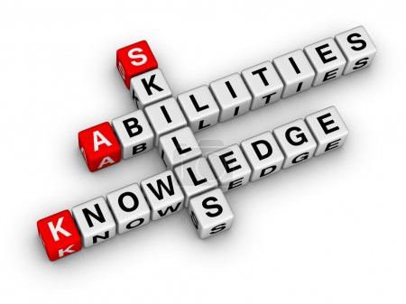 Photo for Skills, Knowledge, Abilities - Royalty Free Image