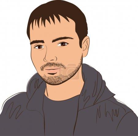 Illustration for Vector face man. design element - Royalty Free Image
