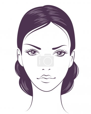 Illustration for Beauty face girl. Abstract vector illustration - Royalty Free Image