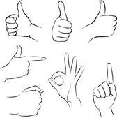 Kreslený abstraktní nastavit ruce