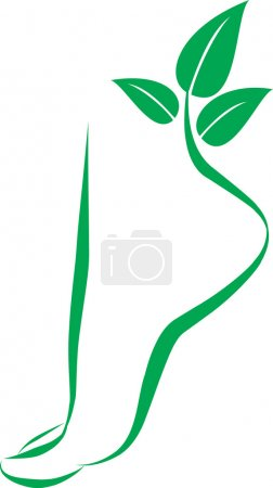 Illustration for Abstract foot symbol. Vector element for design - Royalty Free Image