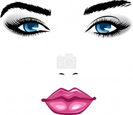 Abstract beauty girl face. Colorful vector illustr...