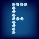 Vector Diamond alphabet Letter F