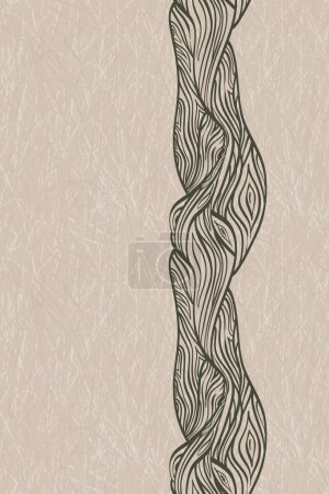 vector seamless crooked oak tree truk on grunge background