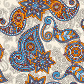 Vector seamless hand drawn paisley pattern clipping masks