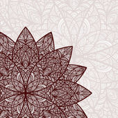 vector hand drawn abstract flower
