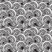 Vector seamless abstract floral monochrome pattern 4 clipping masks