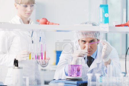 Science in bright lab